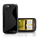 Custodia HTC Sensation XL X315e G21 S-Line Silicone Bumper - Nero