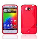 Custodia HTC Sensation XL X315e G21 S-Line Silicone Bumper - Rosso