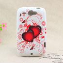 Custodia HTC Wildfire G8 Amore Silicone Case Astuccio - Rosso