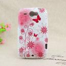 Custodia HTC Wildfire G8 Farfalla Silicone Gel Case - Rosa