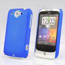 Custodia HTC Wildfire G8 Rete Cover Rigida Guscio - Blu