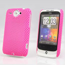 Custodia HTC Wildfire G8 Rete Cover Rigida Guscio - Fucsia