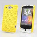 Custodia HTC Wildfire G8 Rete Cover Rigida Guscio - Giallo