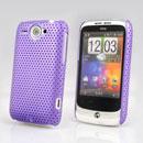 Custodia HTC Wildfire G8 Rete Cover Rigida Guscio - Porpora