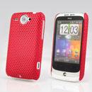 Custodia HTC Wildfire G8 Rete Cover Rigida Guscio - Rosso