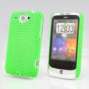 Custodia HTC Wildfire G8 Rete Cover Rigida Guscio - Verde