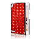 Custodia Huawei Ascend P6 Diamante Bling Cover Rigida - Rosso