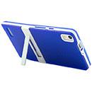 Custodia Huawei Ascend P6 Titolare Silicone Bumper - Blu