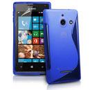 Custodia Huawei Ascend W1 Windows Phone S-Line Silicone Bumper - Blu