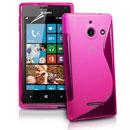 Custodia Huawei Ascend W1 Windows Phone S-Line Silicone Bumper - Fucsia