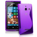 Custodia Huawei Ascend W1 Windows Phone S-Line Silicone Bumper - Porpora