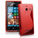 Custodia Huawei Ascend W1 Windows Phone S-Line Silicone Bumper - Rosso