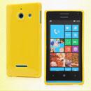 Custodia Huawei Ascend W1 Windows Phone Silicone Bumper - Giallo