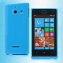 Custodia Huawei Ascend W1 Windows Phone Silicone Bumper - Luce Blu