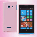 Custodia Huawei Ascend W1 Windows Phone Silicone Bumper - Rosa