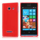 Custodia Huawei Ascend W1 Windows Phone Silicone Bumper - Rosso
