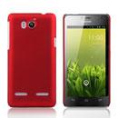 Custodia Huawei Honor 2 U9508 Plastica Cover Rigida Guscio - Rosso