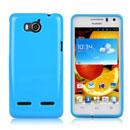 Custodia Huawei Honor 2 U9508 Silicone Bumper - Luce Blu