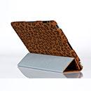 Custodia in Pelle Apple iPad 2 Leopardo Cover - Brown