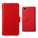 Custodia in Pelle Blackberry Z10 Case Cover - Rosso