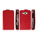 Custodia in Pelle HTC Chacha G16 A810e Coccodrillo Cover - Rosso