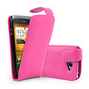 Custodia in Pelle HTC One S Cover Bumper - Fucsia