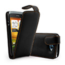 Custodia in Pelle HTC One S Cover Bumper - Nero