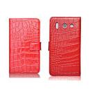Custodia in Pelle Huawei Ascend G510 U8951D Coccodrillo Flip - Rosso