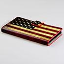 Custodia in Pelle Huawei Ascend P6 La bandiera degli Stati Uniti Bumper - Misto