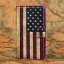 Custodia in Pelle Huawei Ascend Y300 U8833 La bandiera degli Stati Uniti Bumper - Misto