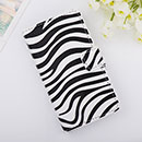 Custodia in Pelle Huawei Ascend Y300 U8833 Zebra Cover Bumper - Nero