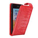 Custodia in Pelle Huawei Honor 2 U9508 Coccodrillo Cover - Rosso