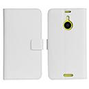 Custodia in Pelle Nokia Lumia 1520 Titolare dello Stand Cover - Bianco
