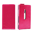 Custodia in Pelle Nokia Lumia 800 Coccodrillo Cover - Fucsia