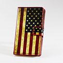 Custodia in Pelle Nokia Lumia 925 La bandiera degli Stati Uniti Bumper - Misto