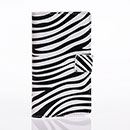 Custodia in Pelle Nokia Lumia 925 Zebra Cover Bumper - Nero