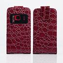 Custodia in Pelle Nokia N8 Coccodrillo Cover - Brown