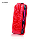 Custodia in Pelle Nokia N8 Coccodrillo Cover - Rosso