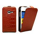 Custodia in Pelle Samsung Galaxy Ace Duos S6802 Coccodrillo Cover - Brown