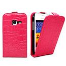 Custodia in Pelle Samsung Galaxy Ace Duos S6802 Coccodrillo Cover - Fucsia