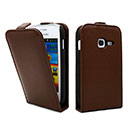 Custodia in Pelle Samsung Galaxy Ace Duos S6802 Cover Bumper - Brown