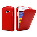 Custodia in Pelle Samsung Galaxy Ace Duos S6802 Cover Bumper - Rosso