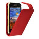 Custodia in Pelle Samsung Galaxy Beam GT-i8530 Cover Bumper - Rosso