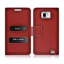 Custodia in Pelle Samsung Galaxy S2 Plus i9105 Cover Bumper - Rosso