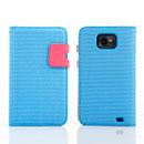 Custodia in Pelle Samsung Galaxy S2 Plus i9105 Dot Cover - Blu