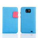Custodia in Pelle Samsung i9100 Galaxy S2 Dot Cover - Blu