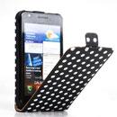 Custodia in Pelle Samsung i9100 Galaxy S2 Dot Cover - Nero