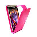 Custodia in Pelle Sony Ericsson Xperia Arc LT15i X12 Cover Bumper - Fucsia