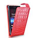 Custodia in Pelle Sony Xperia TX LT29i Coccodrillo Cover - Rosso