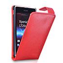 Custodia in Pelle Sony Xperia TX LT29i Cover - Rosso